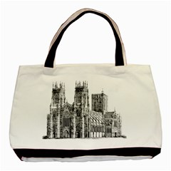 York Cathedral Vector Clipart Basic Tote Bag (Two Sides)