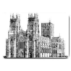 York Cathedral Vector Clipart Large Doormat