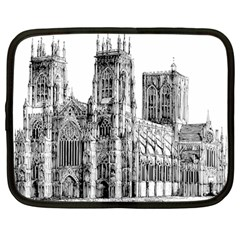 York Cathedral Vector Clipart Netbook Case (Large)