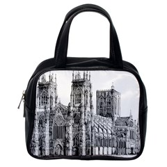 York Cathedral Vector Clipart Classic Handbags (One Side)