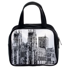 York Cathedral Vector Clipart Classic Handbags (2 Sides)