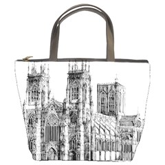 York Cathedral Vector Clipart Bucket Bags