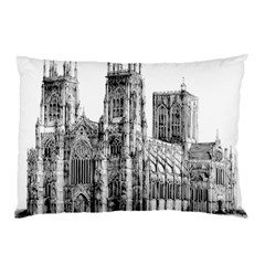 York Cathedral Vector Clipart Pillow Case