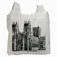 York Cathedral Vector Clipart Recycle Bag (Two Side)