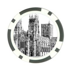 York Cathedral Vector Clipart Poker Chip Card Guard (10 pack)