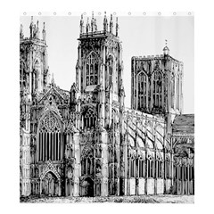 York Cathedral Vector Clipart Shower Curtain 66  x 72  (Large)