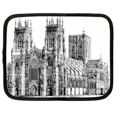 York Cathedral Vector Clipart Netbook Case (XL)