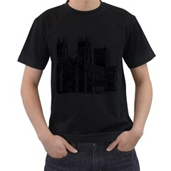 York Cathedral Vector Clipart Men s T-Shirt (Black)
