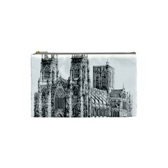 York Cathedral Vector Clipart Cosmetic Bag (Small)
