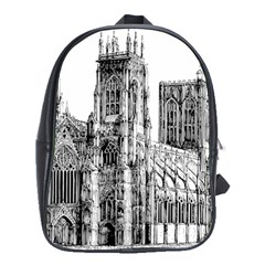 York Cathedral Vector Clipart School Bags(Large)