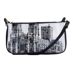 York Cathedral Vector Clipart Shoulder Clutch Bags