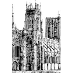 York Cathedral Vector Clipart 5.5  x 8.5  Notebooks