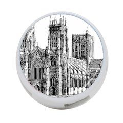 York Cathedral Vector Clipart 4-Port USB Hub (One Side)