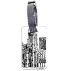 York Cathedral Vector Clipart Luggage Tags (One Side)