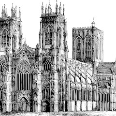 York Cathedral Vector Clipart Magic Photo Cubes