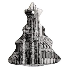 York Cathedral Vector Clipart Christmas Tree Ornament (Two Sides)