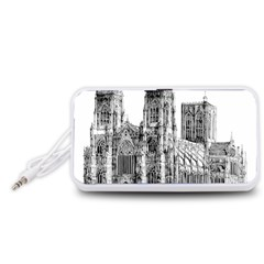 York Cathedral Vector Clipart Portable Speaker (White)