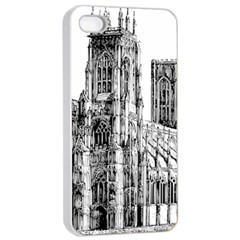York Cathedral Vector Clipart Apple iPhone 4/4s Seamless Case (White)