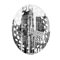 York Cathedral Vector Clipart Oval Filigree Ornament (Two Sides)