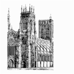 York Cathedral Vector Clipart Small Garden Flag (Two Sides)