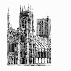 York Cathedral Vector Clipart Large Garden Flag (Two Sides)