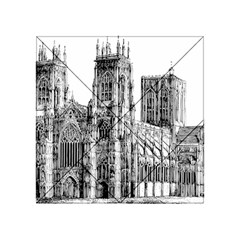 York Cathedral Vector Clipart Acrylic Tangram Puzzle (4  x 4 )