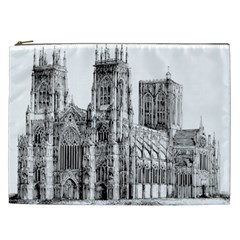 York Cathedral Vector Clipart Cosmetic Bag (XXL)