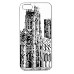 York Cathedral Vector Clipart Apple Seamless Iphone 5 Case (clear)