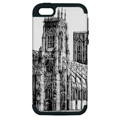 York Cathedral Vector Clipart Apple iPhone 5 Hardshell Case (PC+Silicone)