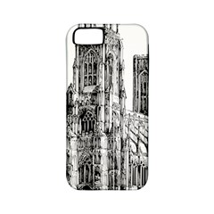 York Cathedral Vector Clipart Apple iPhone 5 Classic Hardshell Case (PC+Silicone)