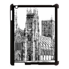 York Cathedral Vector Clipart Apple iPad 3/4 Case (Black)