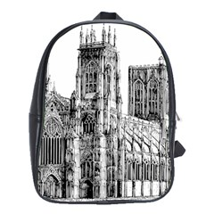 York Cathedral Vector Clipart School Bags (XL)