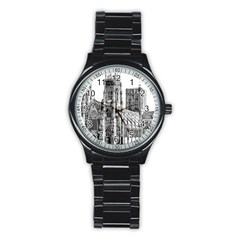York Cathedral Vector Clipart Stainless Steel Round Watch