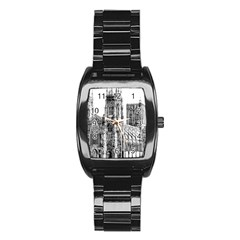 York Cathedral Vector Clipart Stainless Steel Barrel Watch