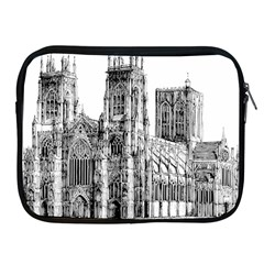York Cathedral Vector Clipart Apple iPad 2/3/4 Zipper Cases