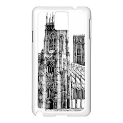 York Cathedral Vector Clipart Samsung Galaxy Note 3 N9005 Case (White)