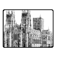 York Cathedral Vector Clipart Double Sided Fleece Blanket (Small)