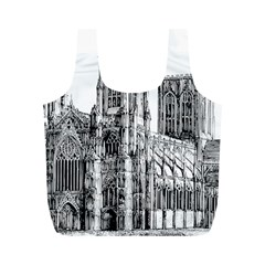York Cathedral Vector Clipart Full Print Recycle Bags (M)