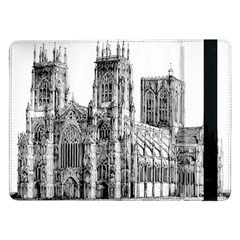 York Cathedral Vector Clipart Samsung Galaxy Tab Pro 12.2  Flip Case