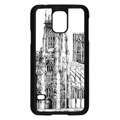 York Cathedral Vector Clipart Samsung Galaxy S5 Case (Black)
