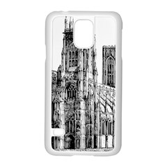 York Cathedral Vector Clipart Samsung Galaxy S5 Case (White)