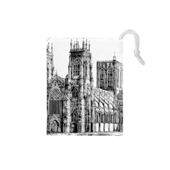 York Cathedral Vector Clipart Drawstring Pouches (Small)