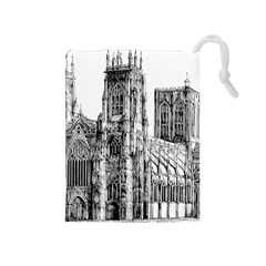 York Cathedral Vector Clipart Drawstring Pouches (Medium)