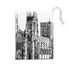 York Cathedral Vector Clipart Drawstring Pouches (large)