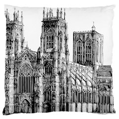York Cathedral Vector Clipart Standard Flano Cushion Case (Two Sides)