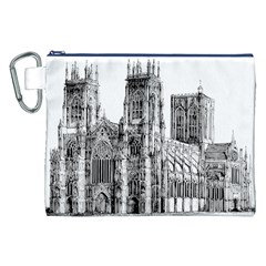 York Cathedral Vector Clipart Canvas Cosmetic Bag (XXL)