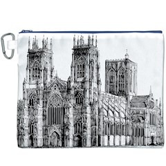 York Cathedral Vector Clipart Canvas Cosmetic Bag (XXXL)
