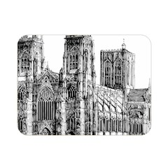 York Cathedral Vector Clipart Double Sided Flano Blanket (Mini)