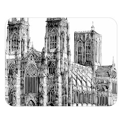 York Cathedral Vector Clipart Double Sided Flano Blanket (Large)