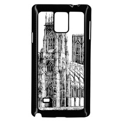 York Cathedral Vector Clipart Samsung Galaxy Note 4 Case (black)